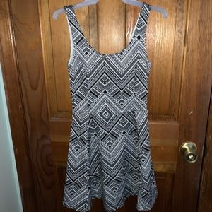 Cute black and white tribal patterned dress